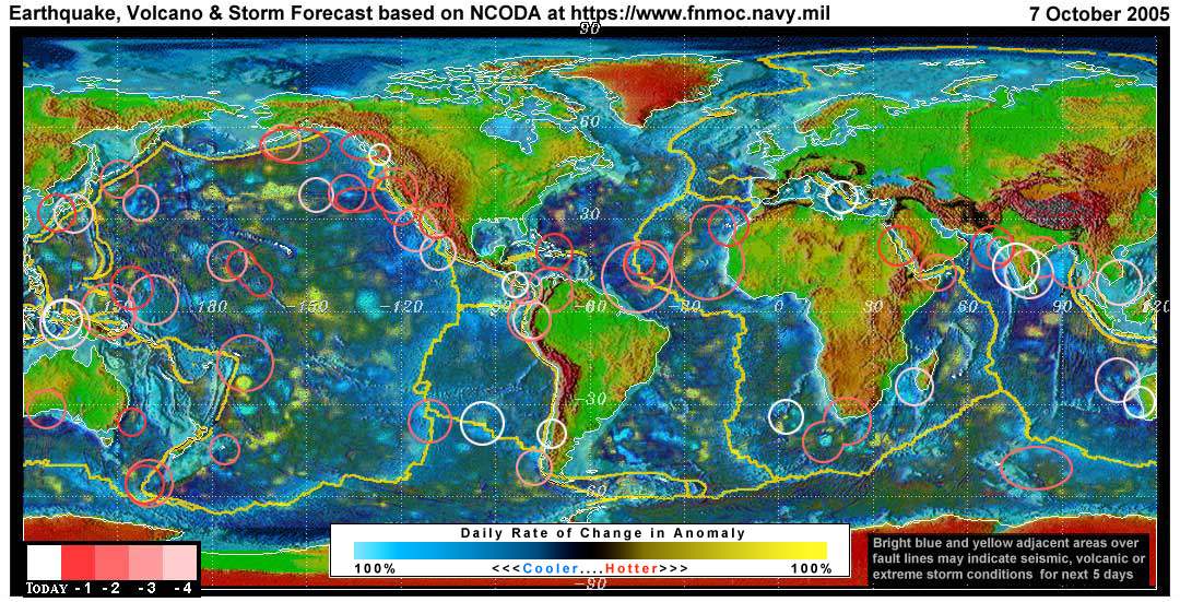 Expected Earthquake, Volcanic or Storm Activity for the Next 1 to 5 ...